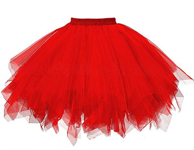 Farben Petticoat Rock Cheerleading Karneval untersch