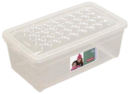 Curver - Caja para Textil y Zapatos 5,7L. - Con Tapa - Color ...