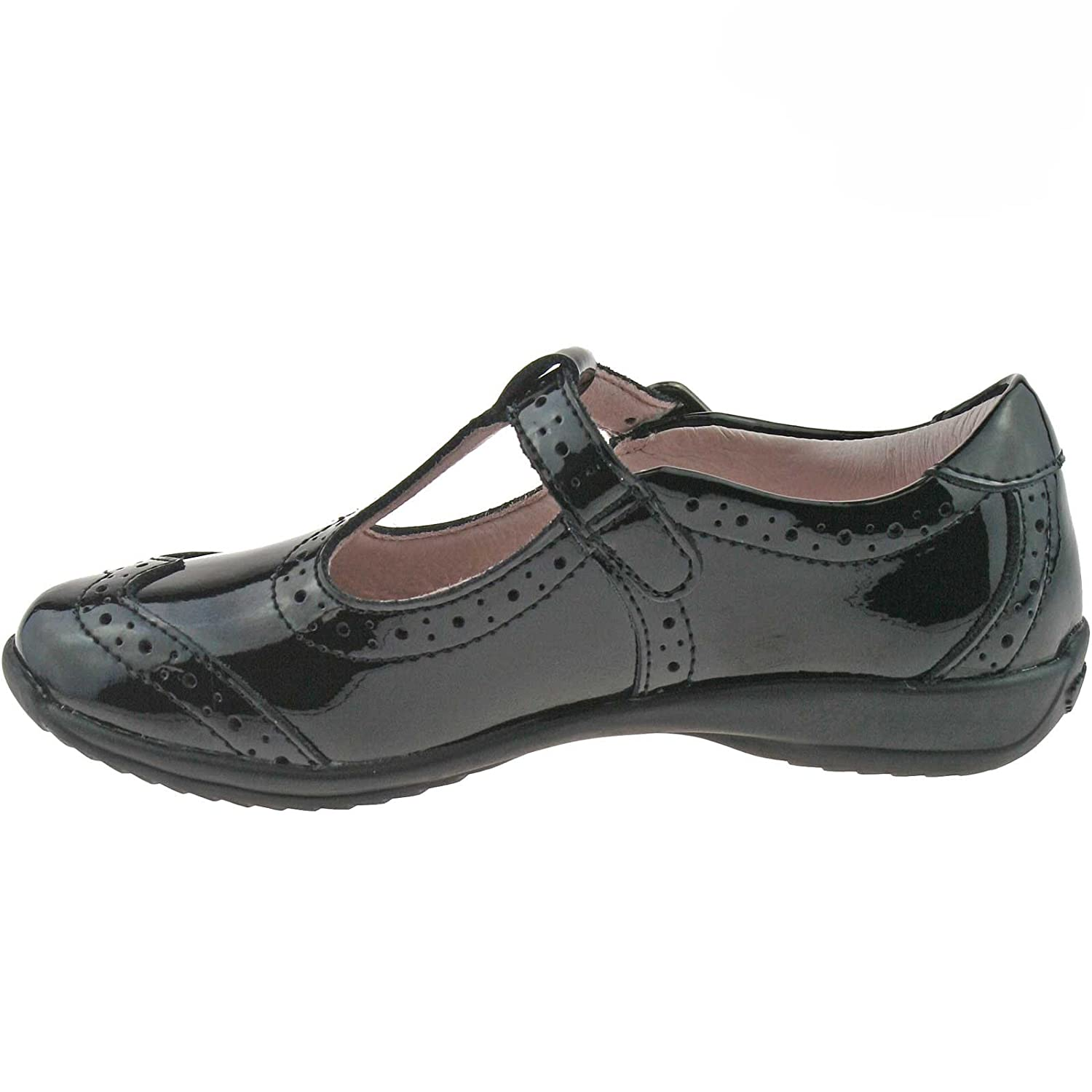 Lelli Kelly LK8216 (DB01) Jennette Black Patent T-Bar School Shoes F Width-32 (UK 13) gLGaO8Z