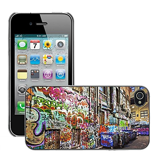 Premio Sottile Slim Cassa Custodia Case Cover Shell // V00002651 Graffiti // Apple iPhone 4 4S 4G