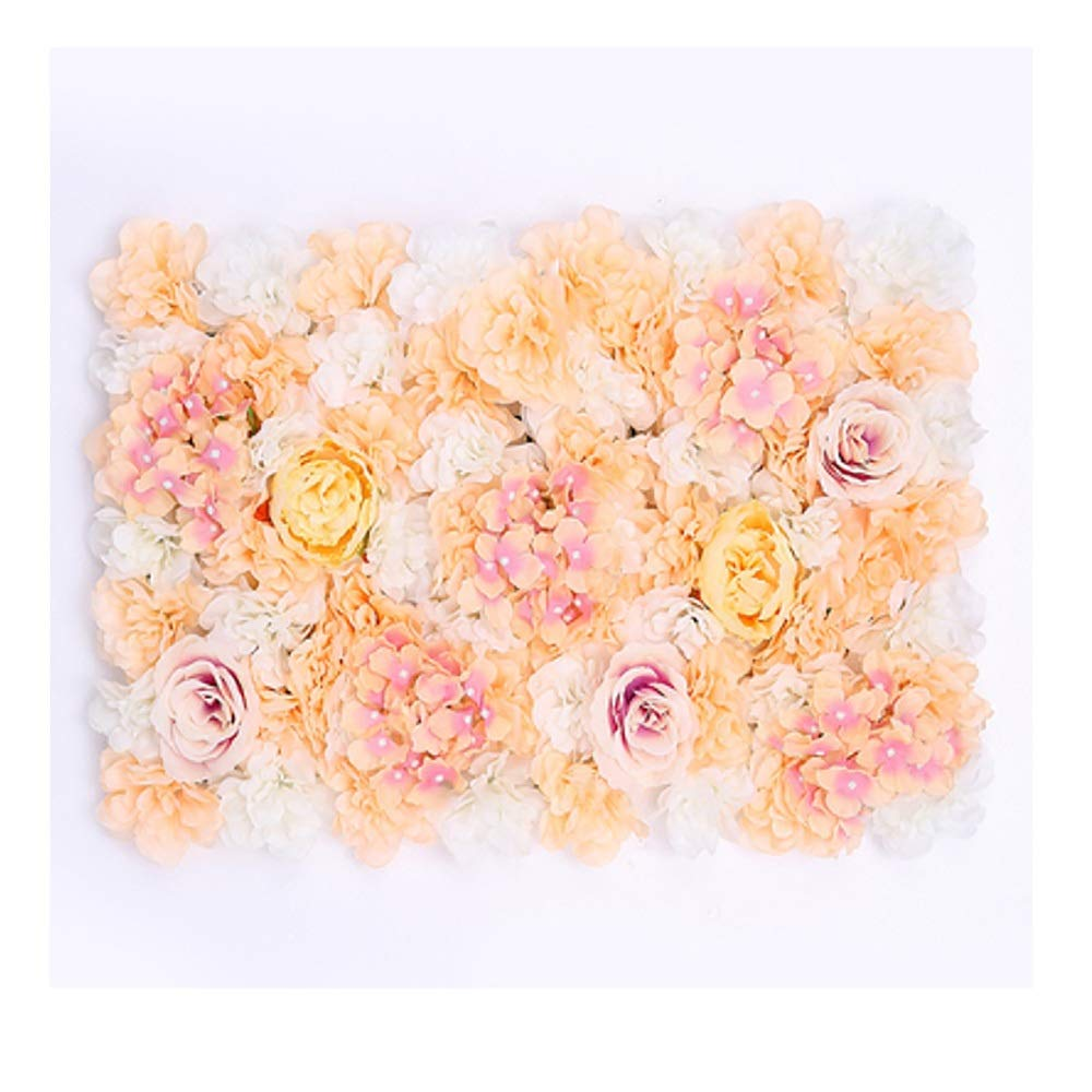 MS Furniture Background Flower Wall Wedding Props Wedding Supplies Decoration Simulation Wedding Flower Wall Decoration Background 绢 Cloth Fake Flower Studio Design Image Wall @ (Color : C) by MS Furniture