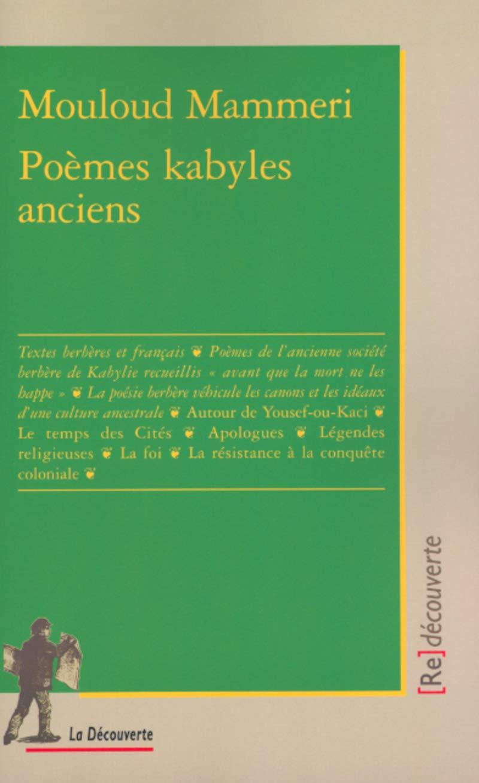 Amazonfr Poèmes Kabyles Anciens Mouloud Mammeri Livres