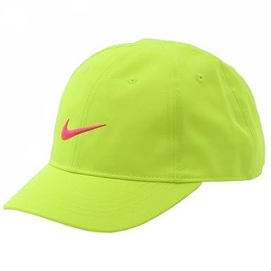 0d6d5ad12d7 Nike Girls Embroidered Swoosh Logo Volt Baseball Cap Hat Sz  4 6X ...