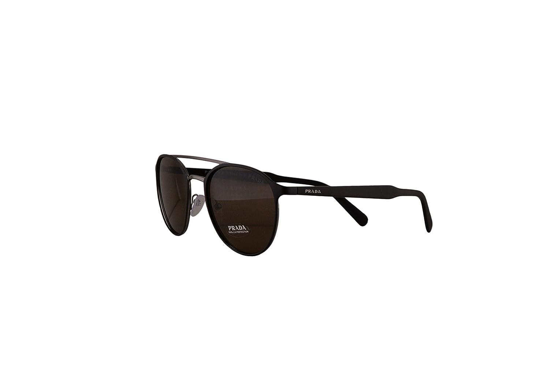 714e93929e ... discount amazon prada pr62ts sunglasses matte brown gunmetal grey w  brown 54mm lens lah9l1 spr62t pr