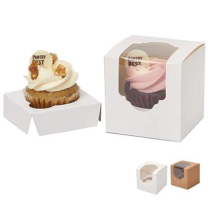 c0bd0e118e2c Yotruth White Mini Cupcake Boxes Single 2.5