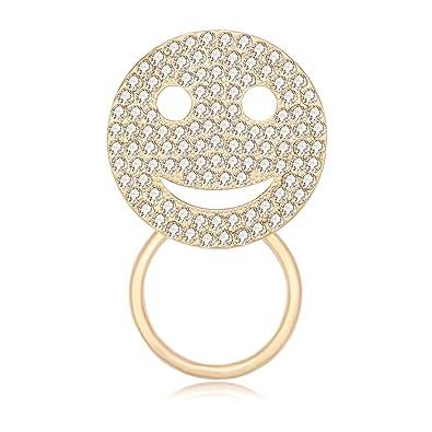 Amazon.com: manzhen vidrio Diseño De Cara feliz sonriente ...