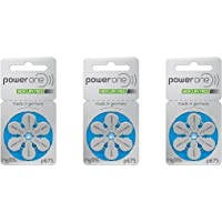 Powerone Size 675 Hearing Aid Battery No Mercury Made in Germany Genuine Pack (3 Packs (60 Batteries))