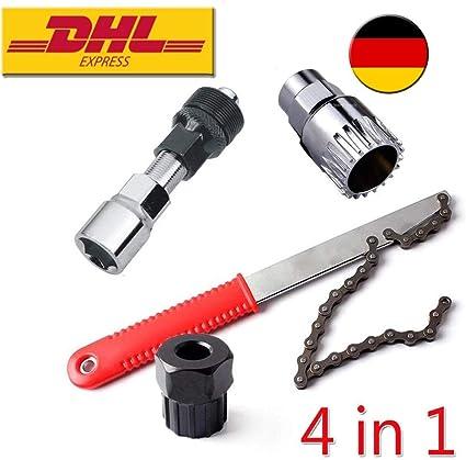 Kurbel-Abzieher Innenlager+Kettennieter Fahrrad Werkzeug Zahnkranzabzieher