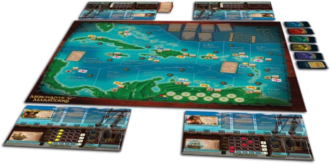 Z-Man 7062 - Juego de Mesa Merchants & Marauders (en inglés): Amazon.es: Juguetes y juegos