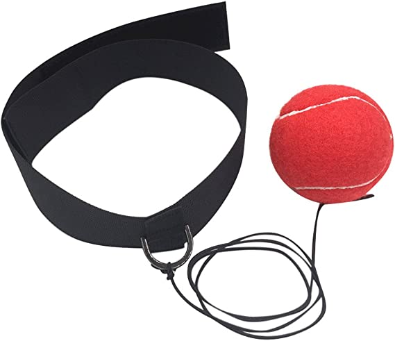 Exercise Fight Ball Boxing Punch  Head Band Reflex Speed Training Speedball  YEE