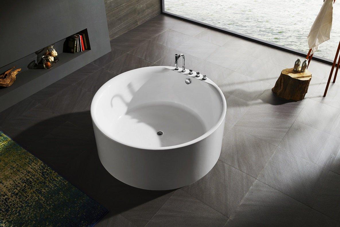 Vasca Da Bagno Freestanding 150 : Vasca da bagno freestanding rotonda circolare idra diametro