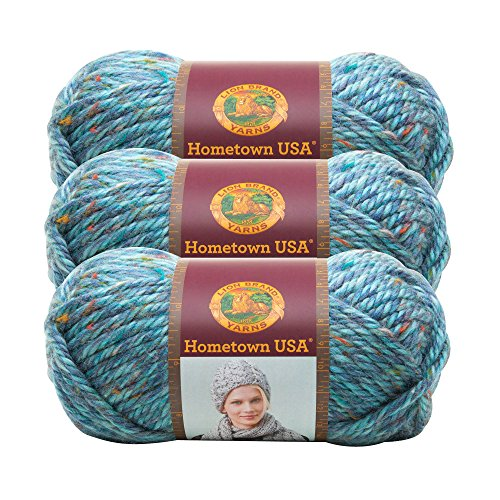 (3 Pack) Lion Brand Yarn 135-308 Hometown USA Yarn, Key Largo Tweed