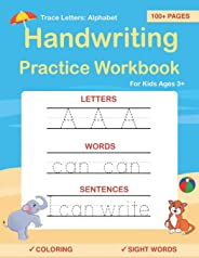 Trace Letters: Alphabet Handwriting Practice workbook for kids: Preschool writing Workbook with Sight words for Pre K, Kinde