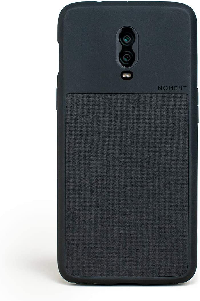 Moment Protective OnePlus 6T Case - Durable Wrist Strap Friendly Case for Photography and Camera Lovers (Black Canvas)