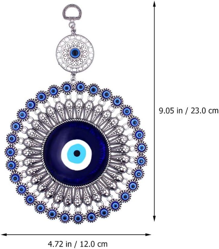 BESPORTBLE Blauer B/öser Blick Wandbehang T/ürkischer Gl/ücksbringer Blue Evil Eye Anh/änger Autospiegel Anh/änger Wandschmuck Fensterschmuck B/üro Zimmer Dekoration Einweihungsparty Geschenk