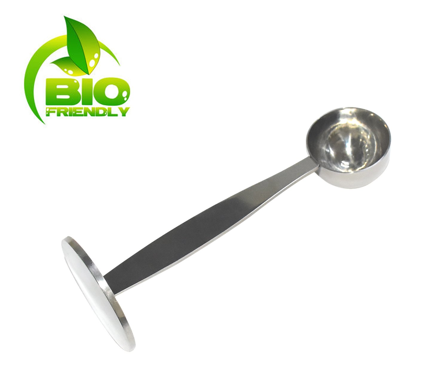 OKCafe Espresso Stand Coffee Measure Tamper Spoon Stainless Steel Coffee & Tea Tools Measuring Tamping Scoop 1 Pieces 15ml Sliever
