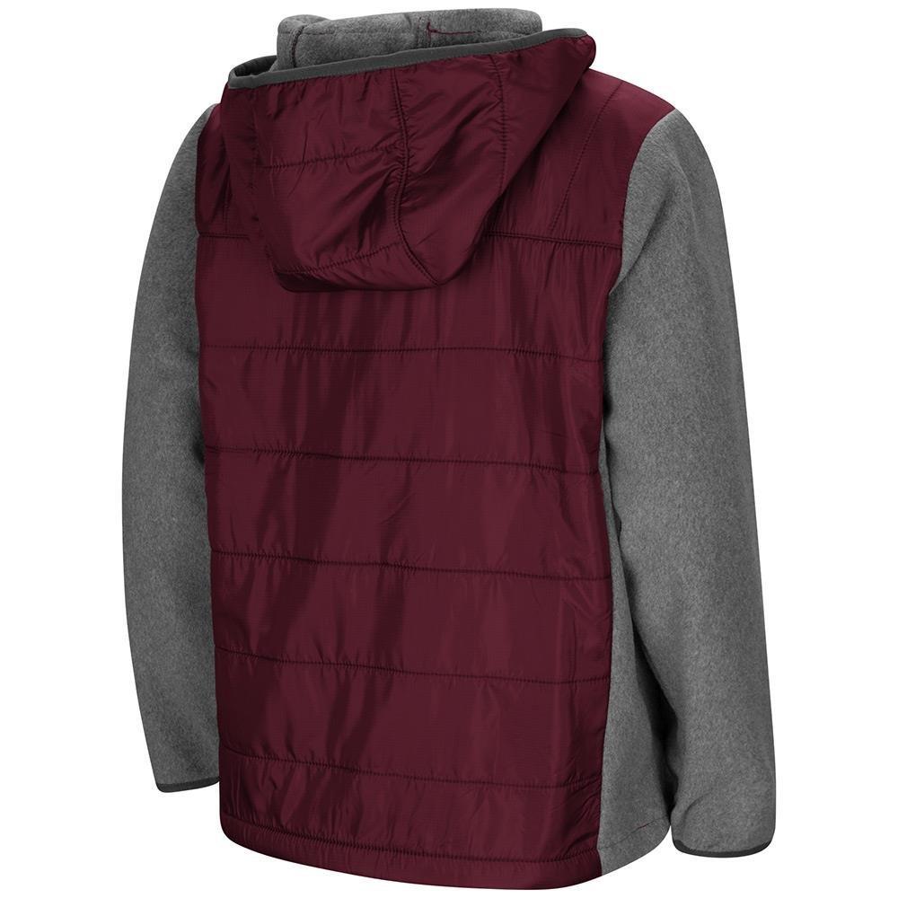 Colosseum Youth Virginia Tech Hokies Full Zip Puff Jacket