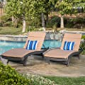 Great Deal Furniture Lakeport Adjustable Outdoor Chaise Lounge Chair Set