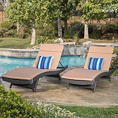 Lakeport Adjustable Outdoor Chaise Lounge Chair Set