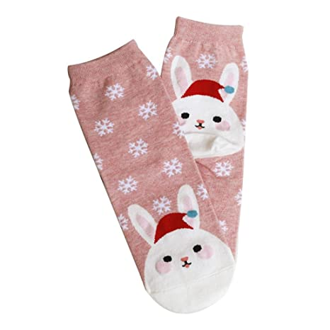 Navidad Lindos Calcetines ,Lenfesh Unisex Christmas Ropa -Santa Claus Antideslizantes Calcetines Calcetines,Xmas