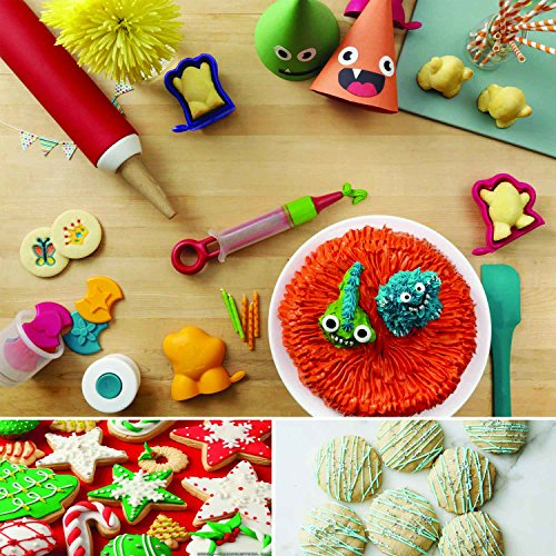Cookiepro Festive Edition - 231pcs Cookie Biscuit Cutter + Stamp Set With 6pcs Xmas Stampers + decorating icing pen + Rolling pin + Alphabet& Number Stamps + Icing Piping Syringe With Nozzles and more by Terraberk (Image #3)