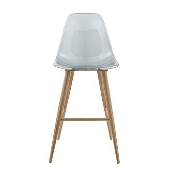 gasoline tab01_t_grey chaise haute gasoline avec pieds effet bois tab01 transparent gris blanc argent - Chaise Haute Transparente