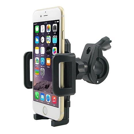 MTRONX Soporte para Bicicleta Universal para Móviles Smartphones Soporte teléfono para Manillar Bicicleta Bici