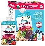 organic soy yogurt - NurturMe NurturMe Organic Dairy Free Yogurt, Purple Carrot, Banana and Berry, 4 Count, 1 Pound