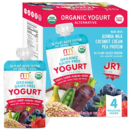 (NurturMe Organic Dairy Free Yogurt, Purple Carrot + Banana + Berry, 3.5 Ounce (Pack of)