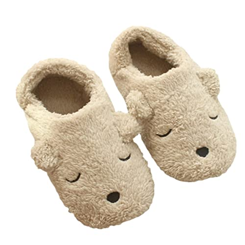 92d0ff42e Jian Ya Na Womens Fleece Slippers,Indoor Cute Cartoon Winter Soft Warm Cozy  Booties Non-Slip Plush Mules Home Bedroom Slip-on Shoes Ankle Boots for  Girls ...