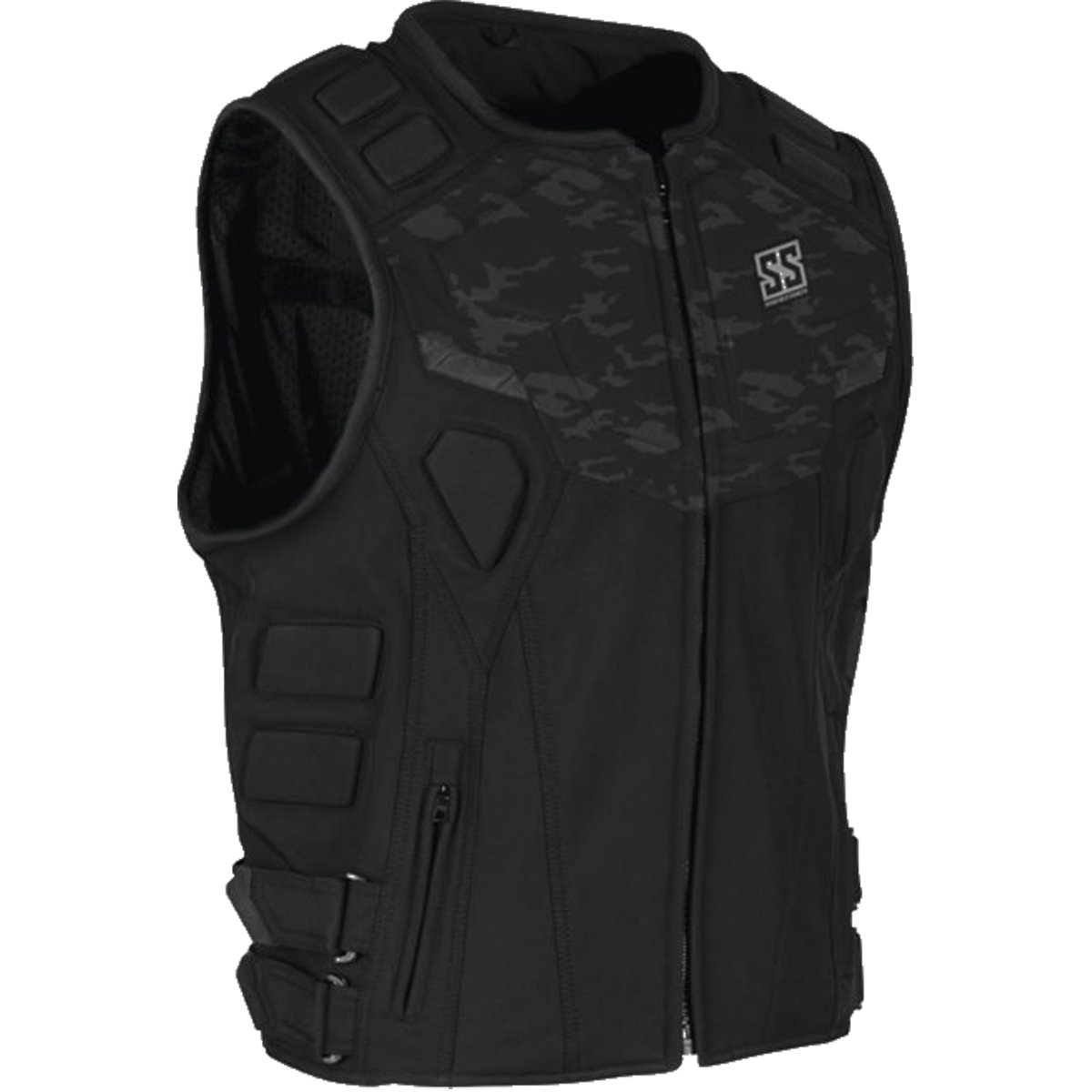 Speed and Strength Critical Mass Armored Men's MX Motorcycle Vest - Camo/Black Large