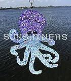 Octopus, Blue, Blue, Glass, Glitter, Light, Mirror, Copper, Sparkle, Shimmer, Reflect, Sun, Shine, Sunshiners, Suncatchers, Hang, Spin