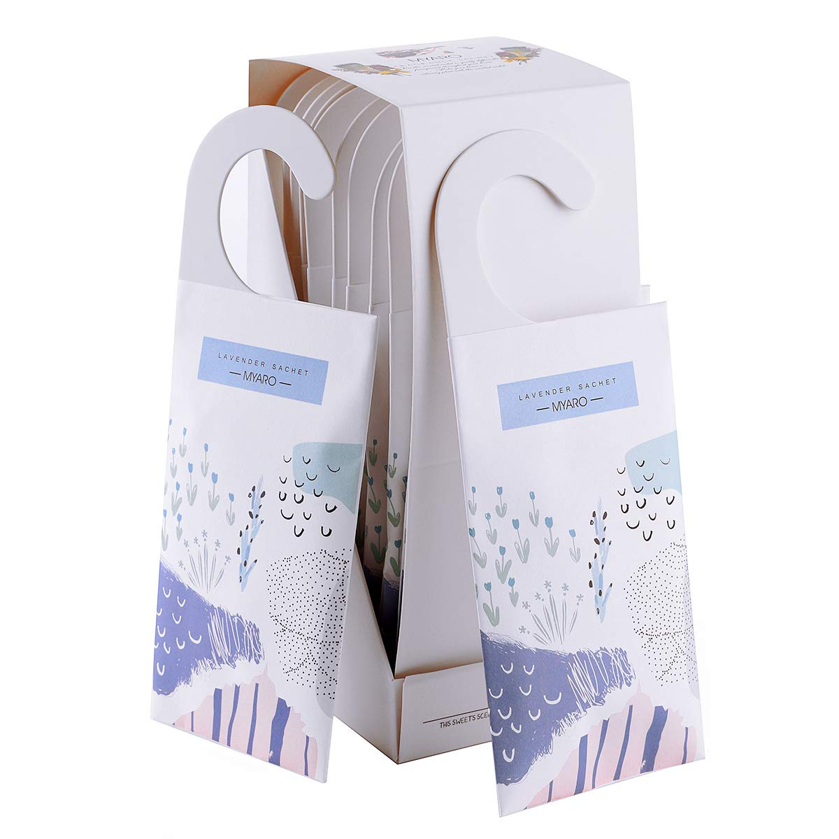 MYARO Large 12 Packs Lavender Scented Sachets for Drawer and Closet with Hanger (Lavender) by MYARO