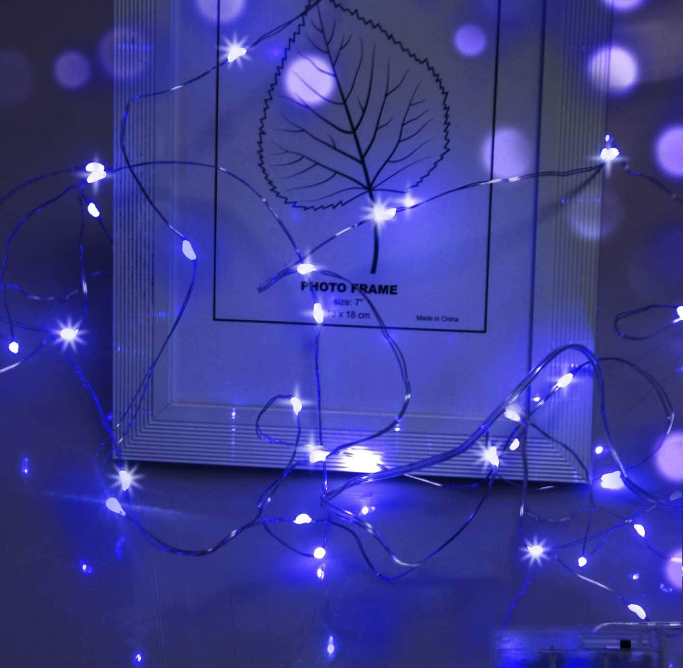 Led Lichterkette Cshare 3m Led Draht Micro Lichterkette Micro 30 Leds Lichterkette Aa Batterie Betrieb Für Party Garten Weihnachten Halloween Hochzeit Beleuchtung Zimmer Blau Beleuchtung