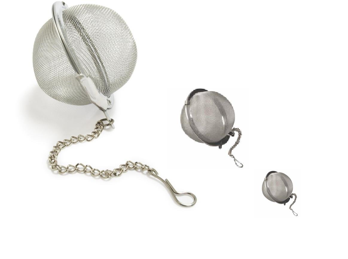 DINY Home /& Style Multi 3 Pack Tea Ball Strainers Infuser Assorted Sizes 3.5 2.5 2