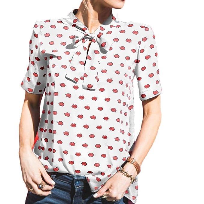 Tallas Grandes Camisas Mujer, Blusas para Mujer Moda Tops Camisetas de Manga Corta Blusas de