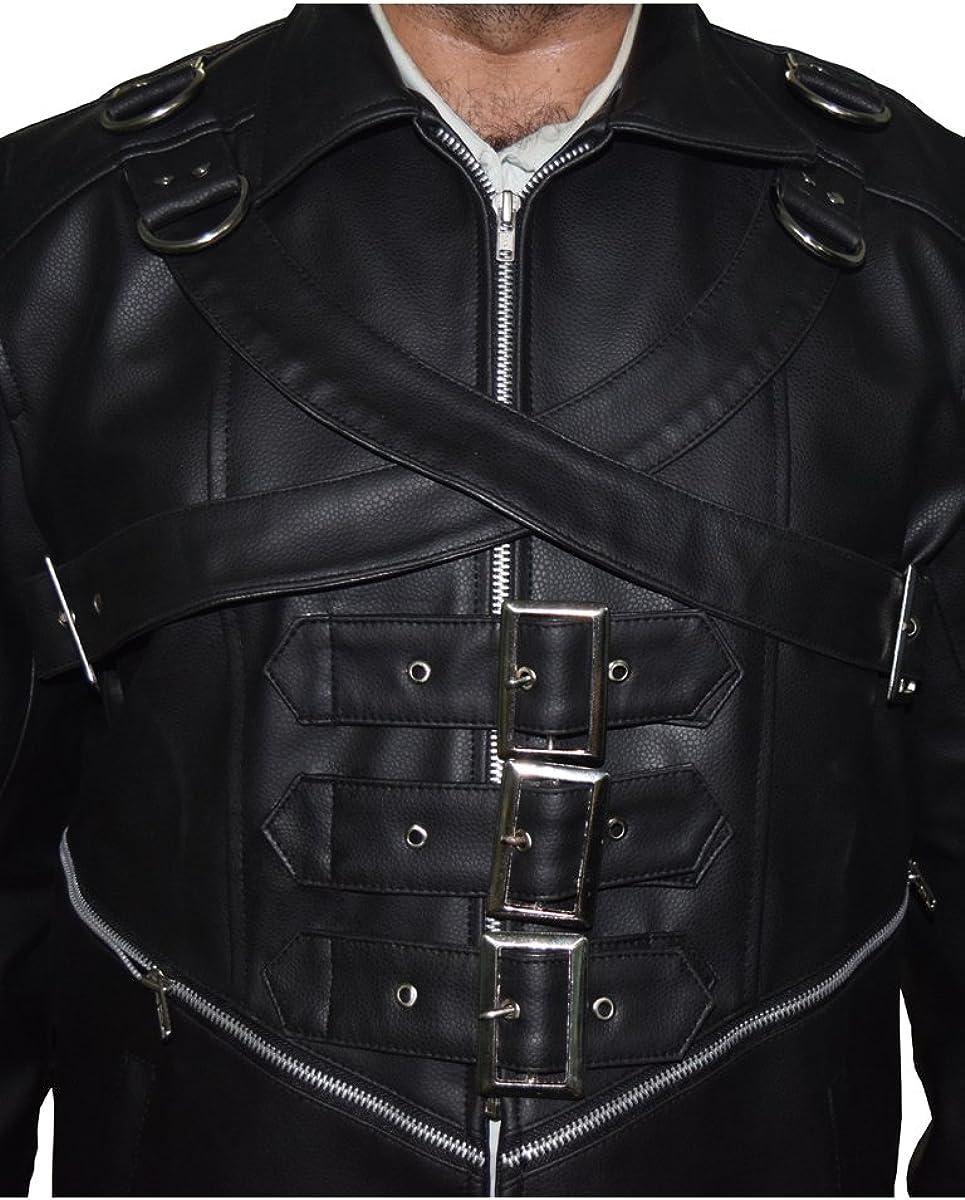 BNH Black Goth Matrix Steampunk Gothic Trench Coat
