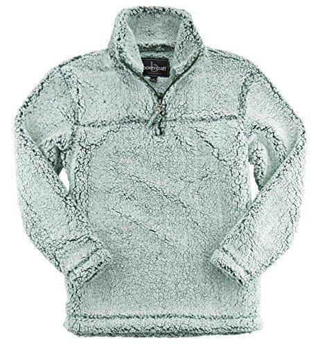 boxercraft Premium Plush Women's Epic Sherpa Quarter Zip (Frosty Forest-Large)