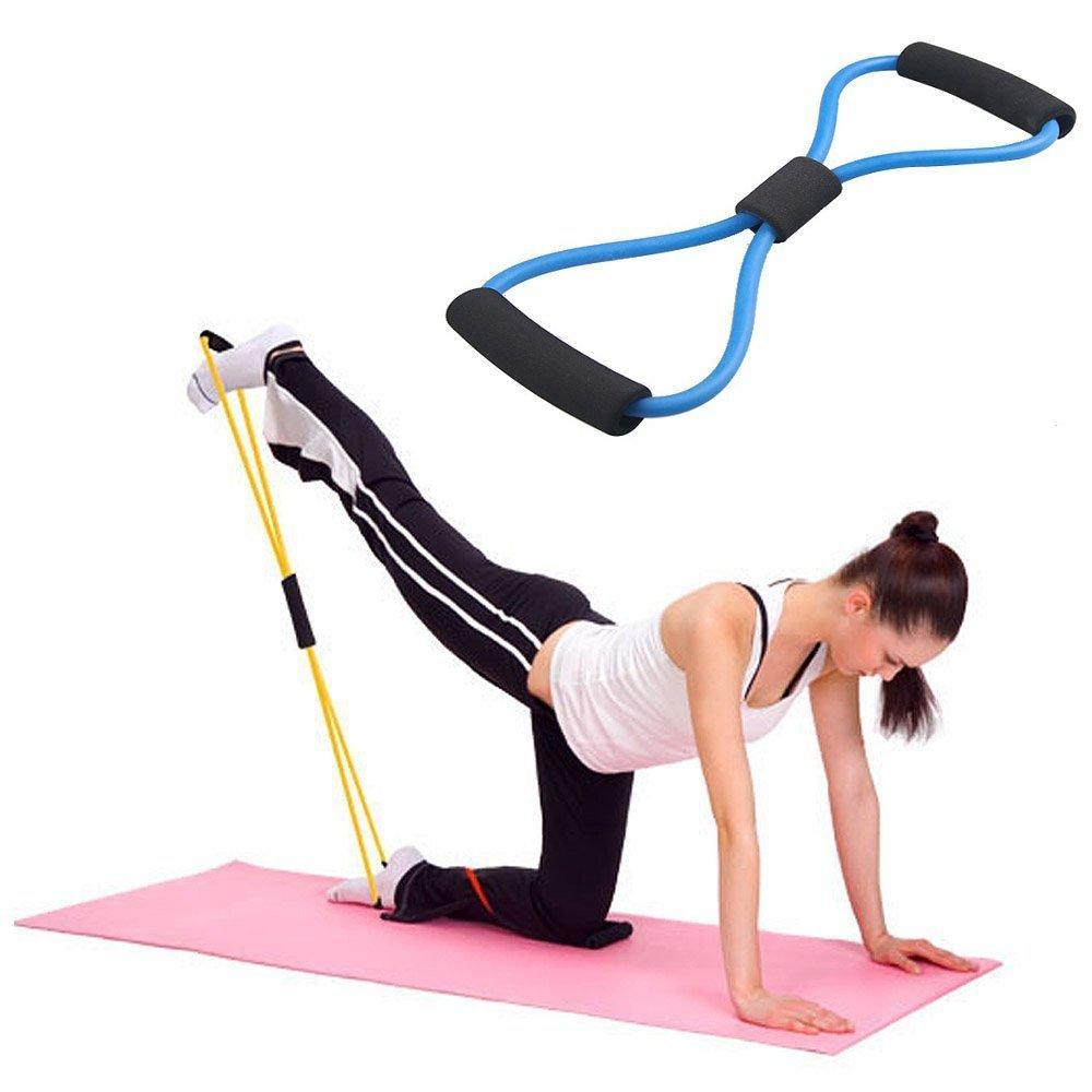 Premium Bandes de résistance SET GYM Exercice Fitness Yoga Pilates Tube Workout Band
