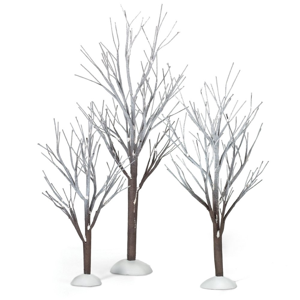 Department 56 Snow Village First Frost Trees (Set of 3) 800007