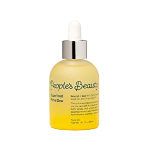 People's Beauty Superfood Facial Dew | Vegan Nourishing Antioxidant Face Oil with Essential Vitamins and Minerals 1 oz | 30 ml
