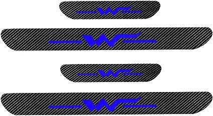 4D M Fibra de Carbono Pedal Scuff Pegatina Proteger Car Styling ...