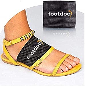 FOOTDOC Compression Copper Arch Support Brace - 2 Plantar Fasciitis Sleeves for Pain Relief, Heel Spurs and Flat Feet (L/XL)