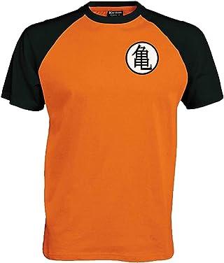 Lifeguardgear Goku - Camiseta de béisbol con símbolo de entrenamiento. Tallas: S 36 M 38 L 40 XL 42 2XL 42/46. Inspirada en Dragonball Z. Mangas ranglán y cuello redondo. 100% Algodón.Ventilaciones laterales, acabado de doble aguja.