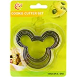 Fantastic Zone 5PCS Cookie Cutters Set, FDA Grade Stainless Steel, Various Size for Cookies, Sandwich, Thanksgiving, Christmas, Bakeware, Food, Bread, Gift for Holiday
