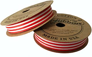product image for Cream City Ribbon Stripe Cotton, Curling/Craft, Red/White