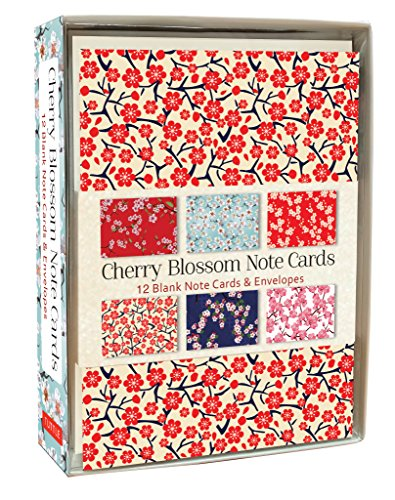 - Cherry Blossom Note Cards: 12 Blank Note Cards & Envelopes (4 x 6 inch cards in a box)