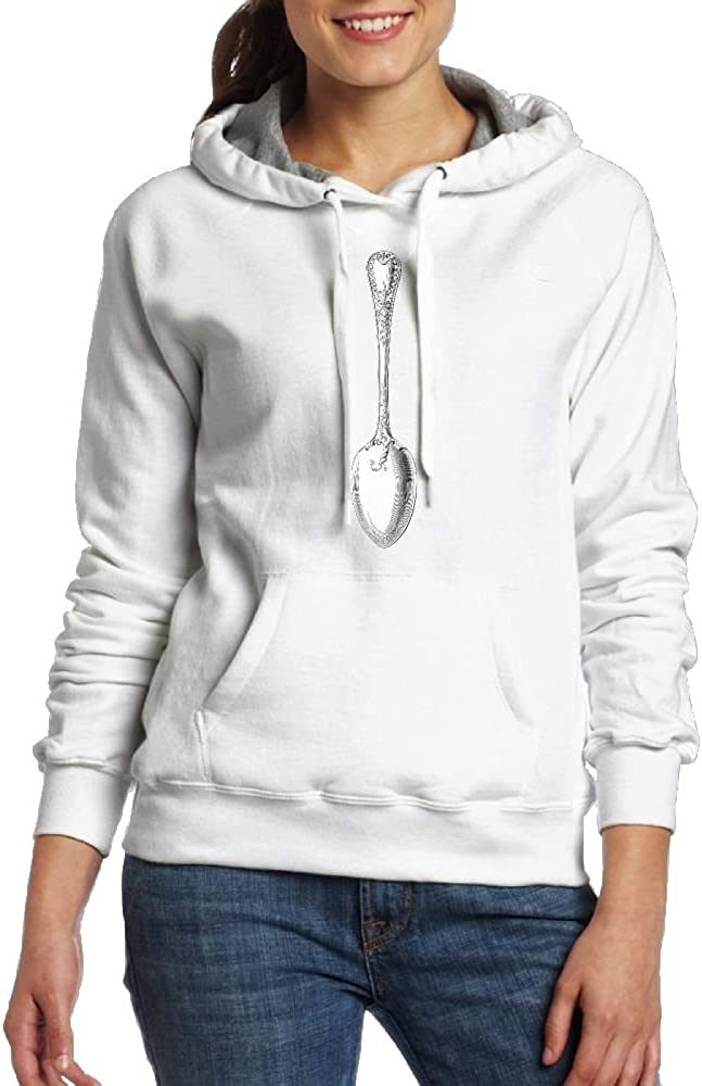Jessicagf1990s Silver Spoon Women Fashion Casual Hooded Pullover Sweatshirt Tops With Pocket
