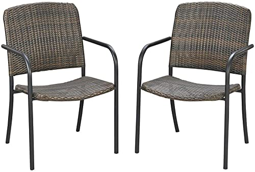 Laguna Ii Black Pair of Outdoor Arm Chairs by Home Styles