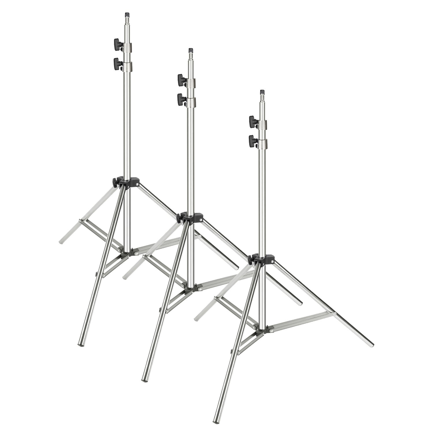 Neewer® 3 Pieces 6ft/75 inch/190cm Photography Tripod Light Stands For Studio Kits,Video, Lights, Softboxes, Reflectors, etc. 90087650@@1075